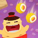 Сумоист ест суши - игра Маджонг