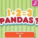 Игра Математические примеры от панды 1+2=3