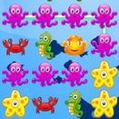 Морские животные три в ряд