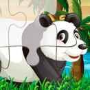 Игра Веселые дети - Пазлы с животными